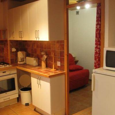 espace cuisine et espace salon